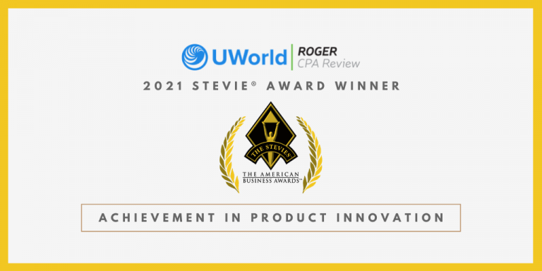 UWorld Roger CPA Review Wins Stevie Award for Product Innovation